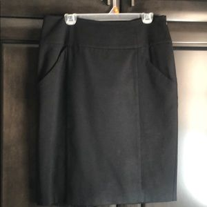 Pencil skirt, ponte fabric lined